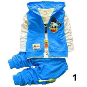 Cheaper kids clothes Baby Boys Girls Children's Cartoon Casual Hoodies Jacket Vest + T Shirt + Pants 3pcs baby clothing sets for Sale in Orlando, FL