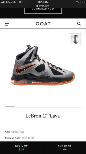 Lebron 10 lava for Sale in Haines City, FL