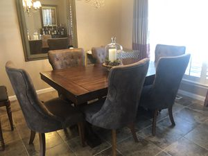 6 upholstered dining chairs for Sale in Parker, CO