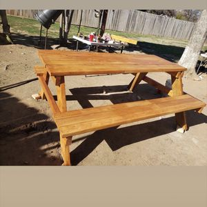 6 Foot Table With Wood Coating Hand Made for Sale in Fresno, CA