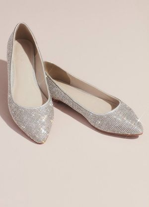 David's Bridal Wedding Shoes (flats) Size 11W for Sale in Florissant, MO