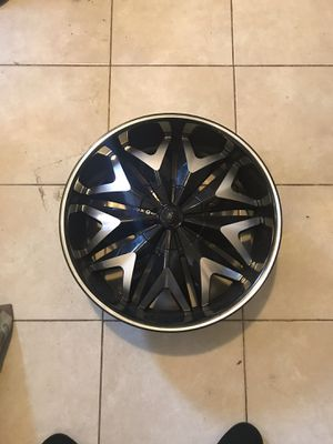 (4 ) never used! nearly mint condition 20 inch rims, black and Polished aluminum . Bolt Pattern list 5 X 115. Make sure u know what your lug pattern for Sale in Philadelphia, PA