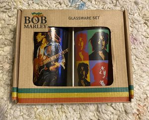 Bob Marley glassware set. Two 16oz glasses. for Sale in Brownsville, TX