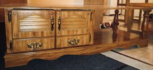 Wooden TV Stand with closed cupboards for Sale in Bloomington, IL