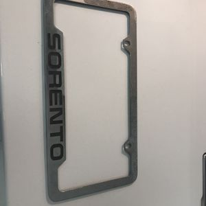 Oem Kia Sorento Chrome License Plate Frame for Sale in Westport, MA