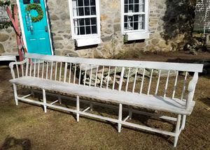 9 Foot Church Pew by William O. Haskell circa 1850 for Sale in North Granby, CT