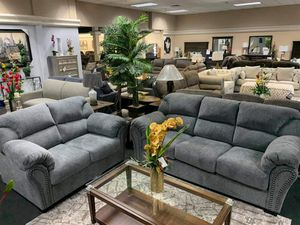 Almaxx Dark Gray Living Room Set 🔥 Same Day Delivery for Sale in Houston, TX
