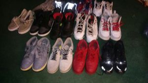 I have 13 pair of used jordens n nikes reebok the sizes is 11 12 13 14 forsale. for Sale in Dallas, TX