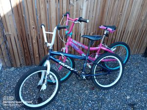 Kids bicycles- pink Schwinn - blue Huffy. $20.00 each for Sale in Grand Junction, CO