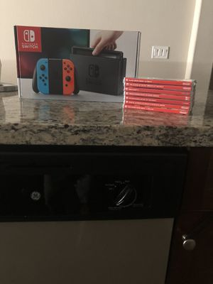 Nintendo switch + 8 games for Sale in Ladera Ranch, CA