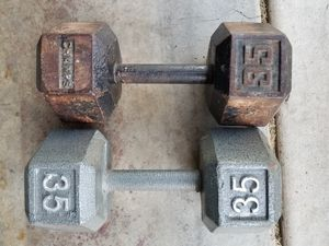 35lb dumbbell weights for Sale in Stockton, CA