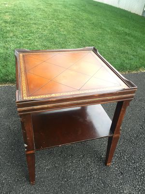 Stickley Furniture- Antique Leather Top Table for Sale in Clackamas, OR