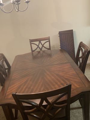 6 chair dinner table with extension and buffet for Sale in Columbia, SC