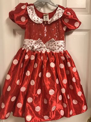 Disney store authentic Minnie Mouse costume Halloween size 7/8 for Sale in Crestview, FL