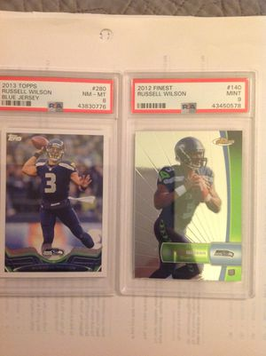 Russell Wilson rookie and 2nd year variant psa graded for Sale in Garden Grove, CA