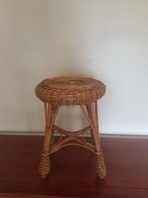 Small Decor Wicker Stool for Sale in Plymouth, MI