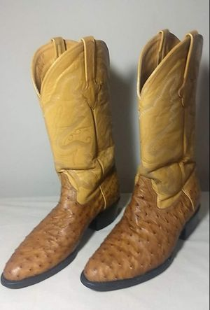 Genuine Ferrini full quill ostrich boots! for Sale in Motley, MN