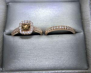 Rose Gold w/ Chocolate Diamond Wedding Set (Size 7) for Sale in Kolin, LA