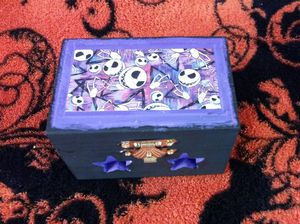 Nightmare Before Christmas Wooden Keepsake Box for Sale in Seattle, WA