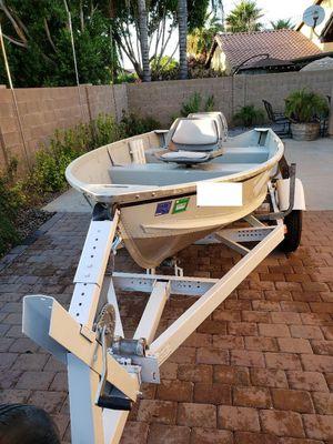 2006 Alumacraft T12 with 1974 Boat Trailer for Sale in Gilbert, AZ