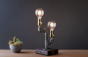 Brand New Hahdmade Industrial Pipe Lamp (1 left) for Sale in San Diego, CA