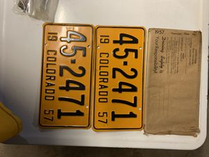 Original 1957 license plates Colorado for Sale in Johnston City, IL