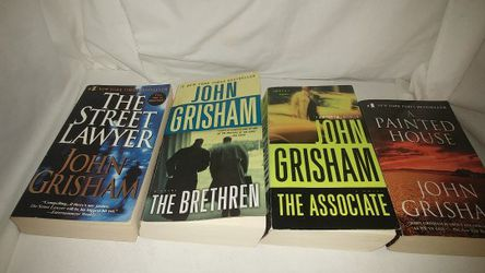 Lot of 4 John Grisham A Painted House, The Associate, The Street Lawyer, The Brethren Used for Sale in La Habra,  CA