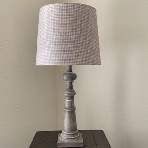 Farmhouse Wood Lamp With Shade for Sale in Rowlett, TX
