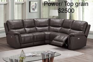$50 down / New top grain power leather sectional couch / FREE delivery for Sale in Anaheim, CA