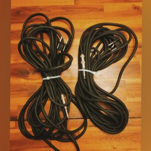 Audio speaker cables 25 foot 1/4 jack to banana plug (speaker) for Sale in San Diego, CA