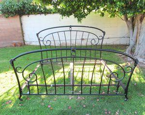 French provincial/Regency king bed frame. black for Sale in Westchester, CA