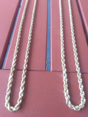 14k real gold rope chains $850 each for Sale in Pasadena, CA