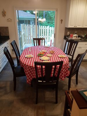 Walnut table with 8 chairs for Sale in McLean, VA