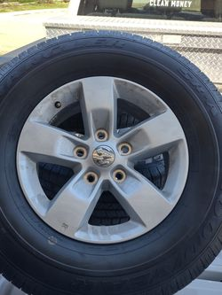 5 Lug Dodge Rims With Brand New Tires for Sale in Clifton,  TX