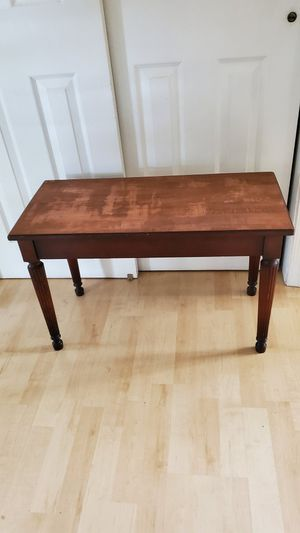Beautiful Solid Wood Bench with Storage 19h x 30x14 for Sale in Virginia Beach, VA