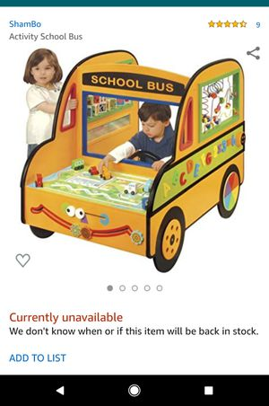 Kids wooden large school bus activity toy for Sale in Puyallup, WA