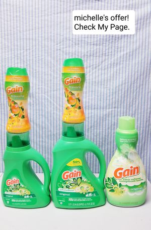 Gain Original laundry detergent, fabric softener, Gain fireworks set for Sale in Temple Hills, MD
