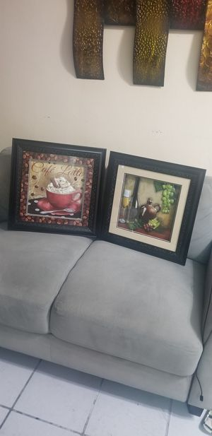 Two beautiful kitchen pictures frames for Sale in Miami, FL