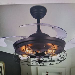 Brand New Modern Ceiling Fan and Light with Remote Control, DS-LN74 for Sale in La Puente, CA