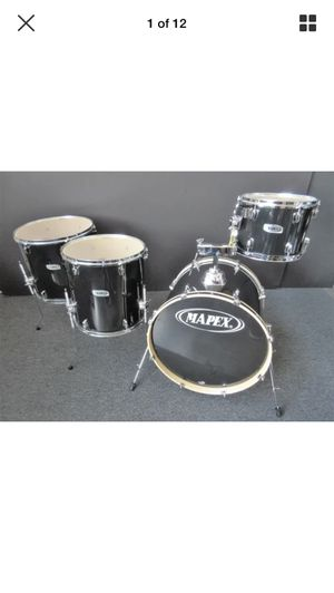 """Mapex Q Series Four Piece Drum Set Black One Up, Two Down 22/18/16/12"""" for Sale in San Francisco, CA"""