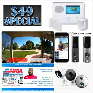 Touchscreen Alarm System with HD Doorbell Camera only $49 for Sale in Stone Mountain, GA