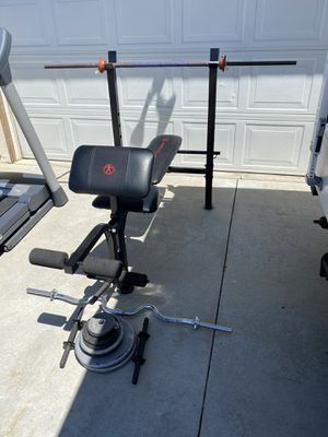 Weight bench with weights for Sale in Fontana, CA