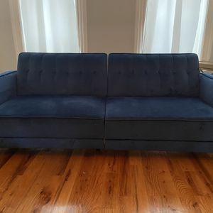 Blue Velvet Sofa for Sale in Brooklyn, NY