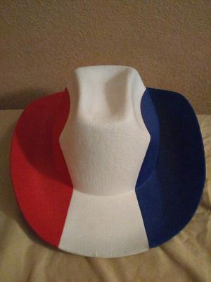 Red,white and blue cowboy hat for Sale in Rialto, CA