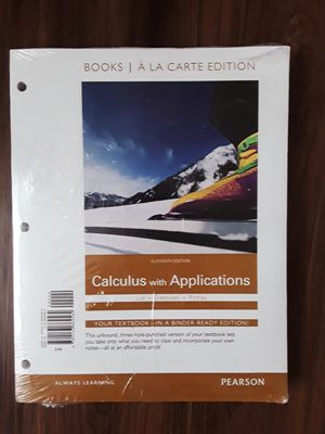New & Sealed Calculus with Application Textbook for Sale in Phoenix, AZ