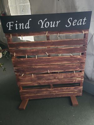 Wedding seating chart for Sale in Rancho Cucamonga, CA