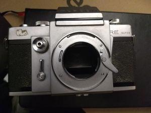 Top RE SUPER slr camera film lens 35mm camara vintage old tripod exacta mount for Sale in Sacramento, CA