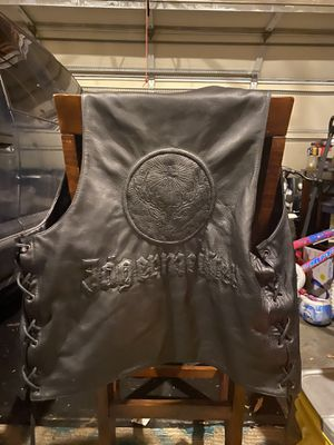 jaggermiester collector leather vest for Sale in Missoula, MT