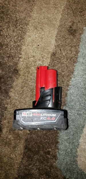 Milwaukee m12 red lithium xc4.0 battery ask $45 for Sale in Pomona, CA