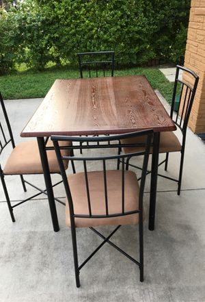 4 pc Wooden Dining Table & Chairs - Brown for Sale in Hollywood, FL